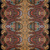 Fond antique d'Indien de Paisley de cru photo stock
