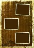 Fond antique de brouillon avec la bordure d'or illustration stock