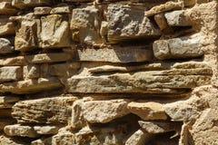 Fond antique de mur de dalle de roche Photographie stock libre de droits
