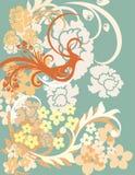 Fond antique de Phoenix de Chinois Photo stock