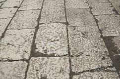 Fond antique du trottoir romain Images libres de droits