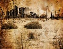 Fond - apocalypse nucléaire Image stock