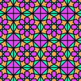 Fond arabe Modèles sans couture de vecteur géométrique islamique réglés Texture élégante dans le style oriental Couleurs lumineus illustration libre de droits