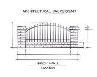 Fond architectural de vecteur Photo stock