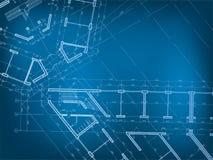 Fond architectural Plan de la maison Image stock