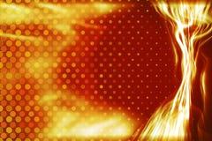Fond ardent de faisceau de lumière d'énergie Photos libres de droits