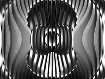 Fond argenté abstrait d'art en métal Photos libres de droits