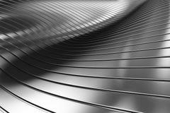 fond argenté abstrait en aluminium en métal 3d Photos libres de droits