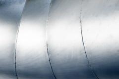 Fond argenté abstrait en aluminium en métal Photos libres de droits