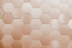 Fond argenté abstrait en métal Hexagones géométriques image stock