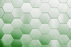 Fond argenté abstrait en métal Hexagones géométriques photo libre de droits
