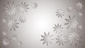 Fond argenté avec les étoiles brillantes argentées Photo stock