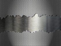 Fond argenté de grille en métal Images stock