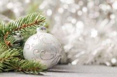 Fond argenté de Noël images libres de droits