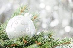 Fond argenté de Noël photo libre de droits