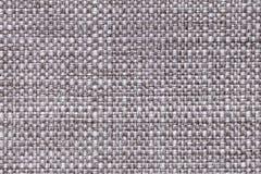 Fond argenté de textile avec le modèle à carreaux, plan rapproché Structure du macro de tissu Photos libres de droits