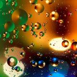 Fond artificiel coloré avec des bulles Photographie stock