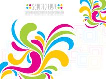 Fond artistique abstrait de florel de colorfull Photos libres de droits