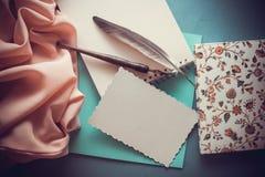 Fond artistique avec la draperie rose molle Photographie stock libre de droits