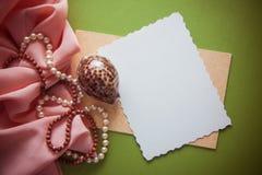 Fond artistique avec la draperie rose molle Photos libres de droits