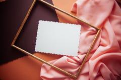 Fond artistique avec le spcace vide de copie, palette orange Photos libres de droits