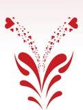 Fond artistique d'amour illustration libre de droits