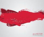 Fond artistique de brosse de peinture rouge abstraite Photos stock