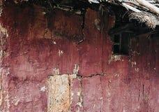 Fond artistique de village de vieux mur en bois sale de maison Photos stock