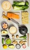 Fond asiatique de nourriture images stock