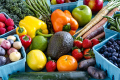 Fond assorti de fruits et légumes Photo libre de droits