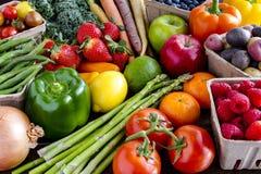 Fond assorti de fruits et légumes image libre de droits