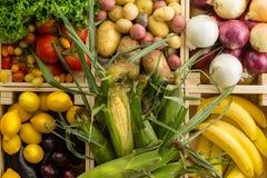 Fond assorti sain frais de légumes images stock