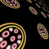 Fond au néon abstrait de pizza photographie stock