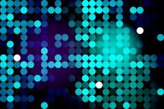 Fond au néon bleu avec des cercles Photo stock