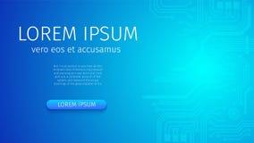 Fond au néon bleu futuriste de Digital de résumé illustration libre de droits