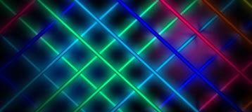 Fond au néon, cage des rayons légers Photos libres de droits
