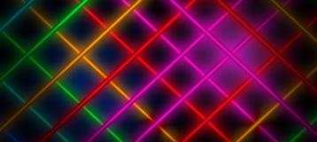 Fond au néon, cage des rayons légers Images libres de droits