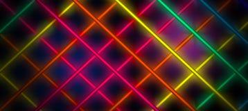 Fond au néon, cage des rayons légers Photo libre de droits