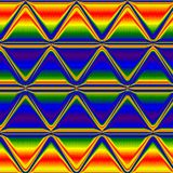 Fond au néon d'arc-en-ciel de triangle multicolore, fond au néon multicolore de lueur Photos stock