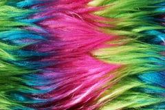 Fond au néon 2 de fourrure de faux de couleur Photographie stock libre de droits