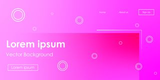 Fond au néon de gradient horizontal futuriste de vecteur illustration stock