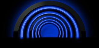 Fond au néon Rendu de la voûte 3D Photos stock