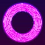 Fond au néon rougeoyant d'anneau Photographie stock libre de droits