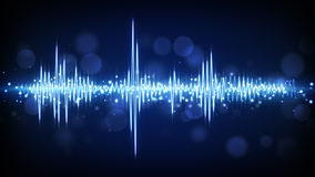 Fond audio bleu de forme d'onde Image libre de droits