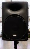 Fond audio noir de haut-parleur, Front View Photos stock