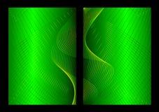 Fond, avant et dos abstraits verts Photos libres de droits