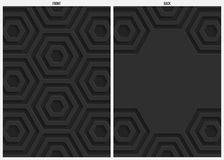 Fond, avant et dos noirs d'abrégé sur papier d'hexagone illustration stock