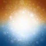 Fond avec des étoiles et des étincelles images stock