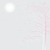 Fond avec des arbres Images stock