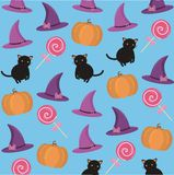 Fond avec des attributs de Halloween illustration de vecteur
